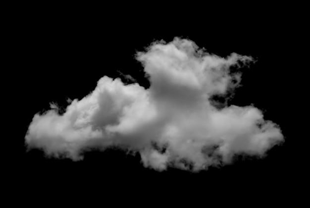 孤立した白い雲