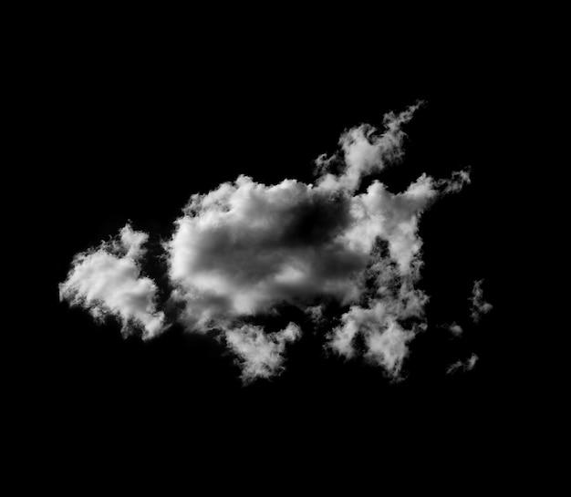 黒の背景に白い雲