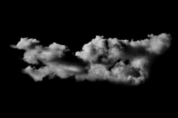 黒い背景に白い雲