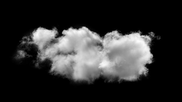Белые облака на черной стене