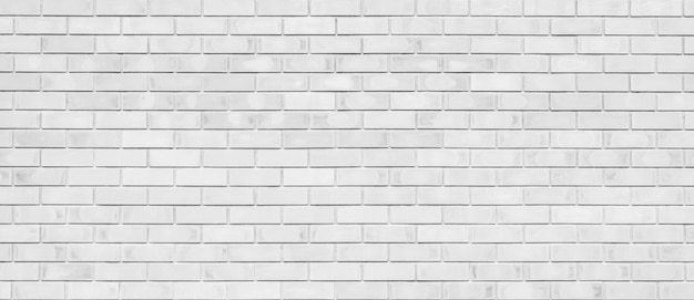 White color brick wall for brickwork background