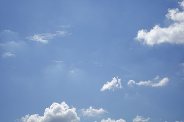 White color clouds against blue sky