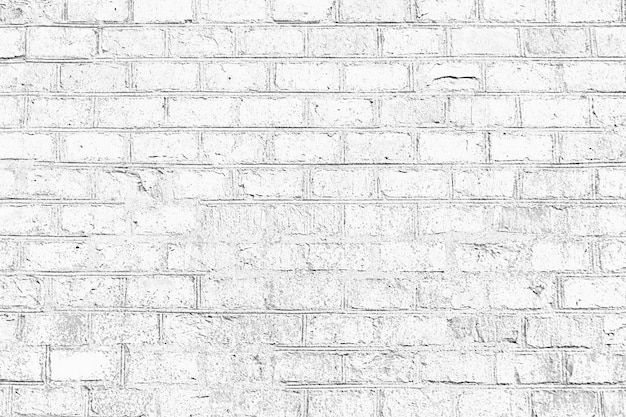 White color grunge brick wall texture background