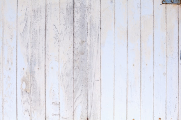 White colored painted rough wooden fence, floor or wall panel board background