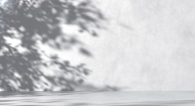 그림자와 함께 흰색 콘크리트 배경