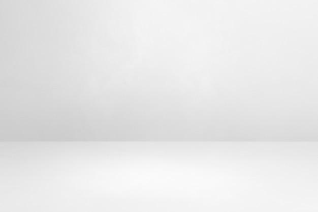 Белый бетонный интерьер фон. пустая шаблонная сцена