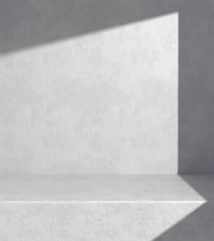 디스플레이 용 흰색 콘크리트 선반