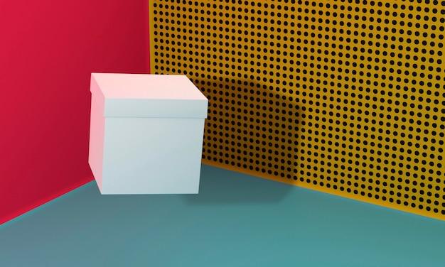 Scatola di cartone bianca del cubo dello spazio della copia