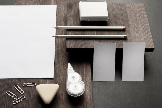 Белая копия пространства стол канцелярские товары
