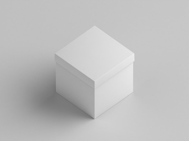 Белая подарочная картонная коробка