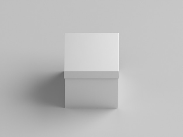 Scatola di cartone presente spazio bianco della copia