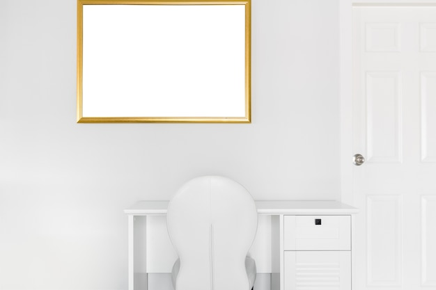 White corner office
