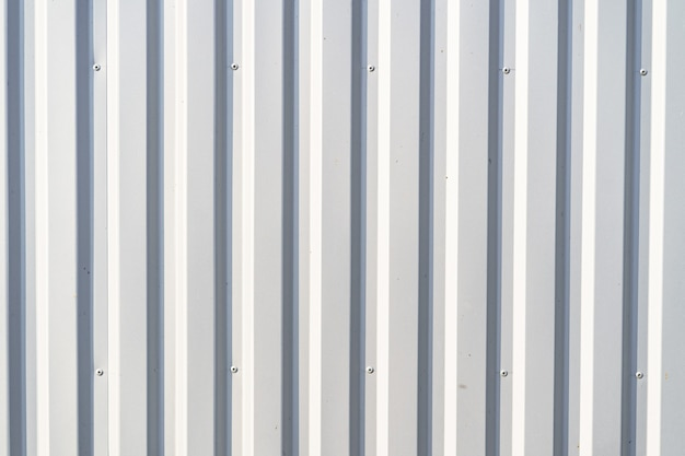 White corrugated metal wall background