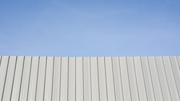 White corrugated metal wall