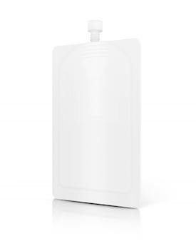 White cosmetic cream sachet