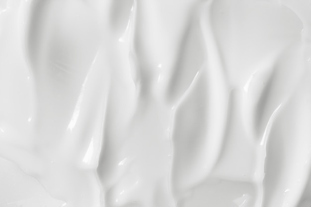 White cosmetic cream texture