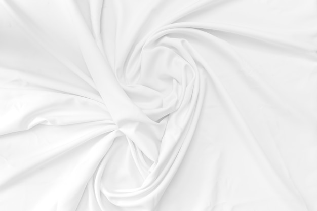 White cotton fabric texture background.
