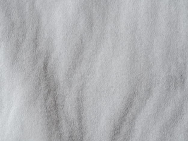 White cotton jersey fabric texture background