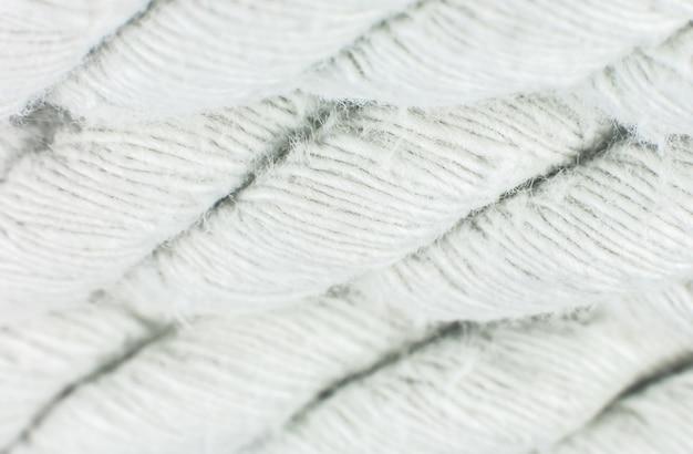 白い綿ロープテクスチャ背景。