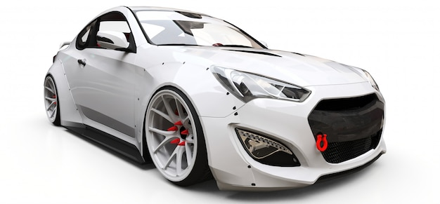 White coupe sports car