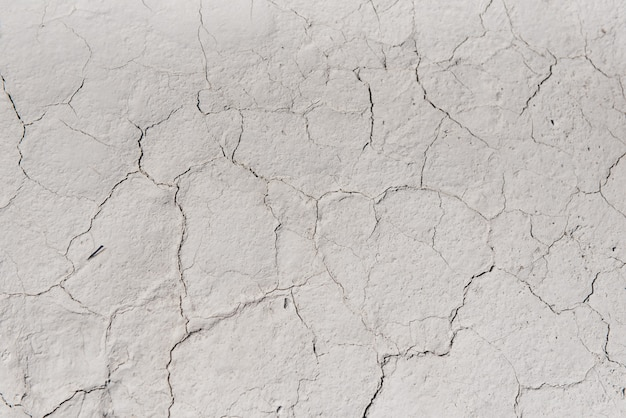 White cracked background texture, light background with dark scratch, the ground near the chalk quarry, copy space