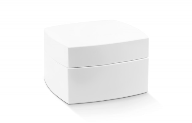 Белая кремовая упаковка для косметического продукта