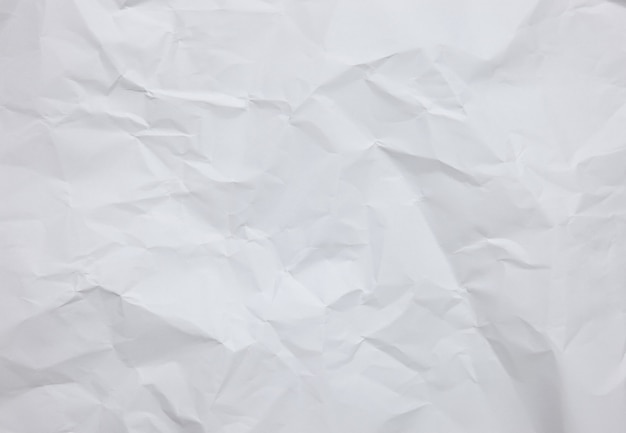 White crinkle paper sheet background with textures