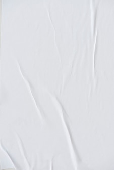 White crinkled paper texture background