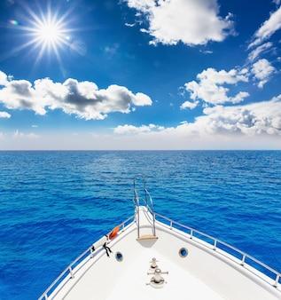 White cruise on sea