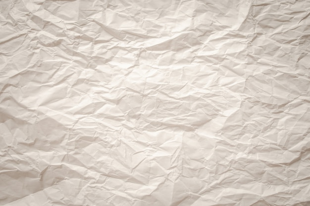 White  crumpled old with paper page texture