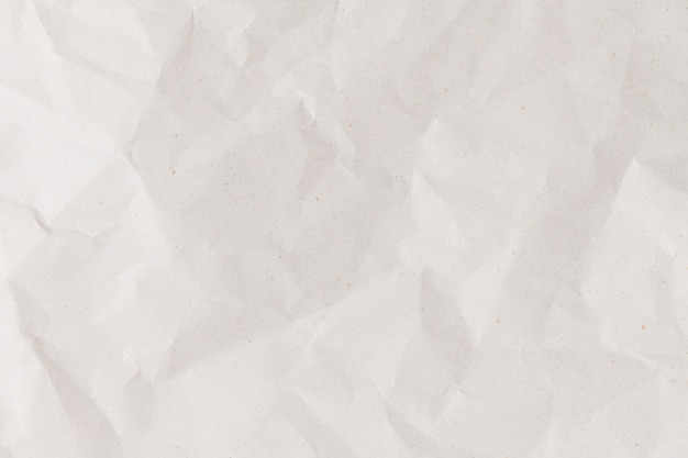 White crumpled paper background simple diy craft