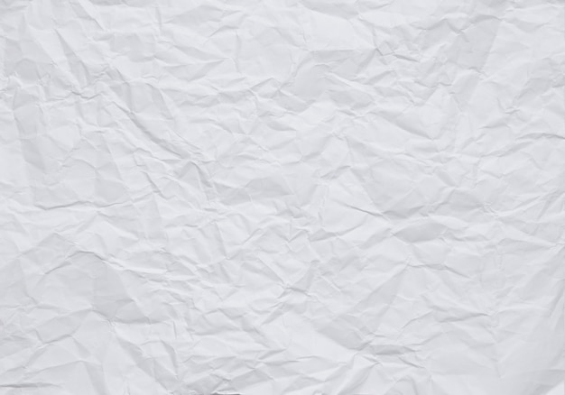 White crumpled paper background with texture