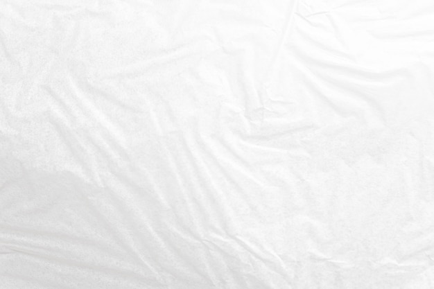 White crumpled paper close up texture background