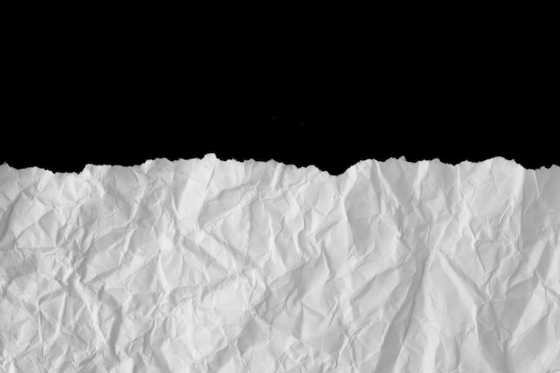 White crumpled paper list texture or background.