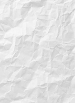 White crumpled paper texture for background