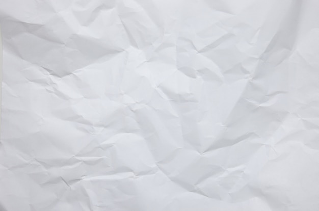 White crumpled paper textured background