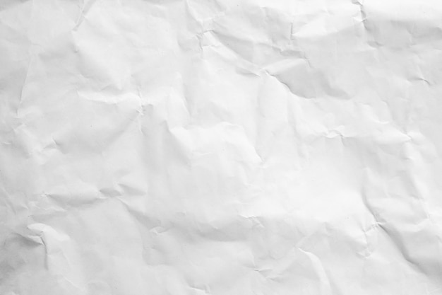 White crumpled recycle paper background