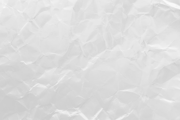 White crumpled recycled paper texture background