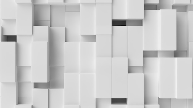White cube abstract background