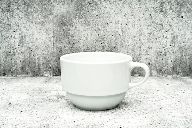 White cup on a light background