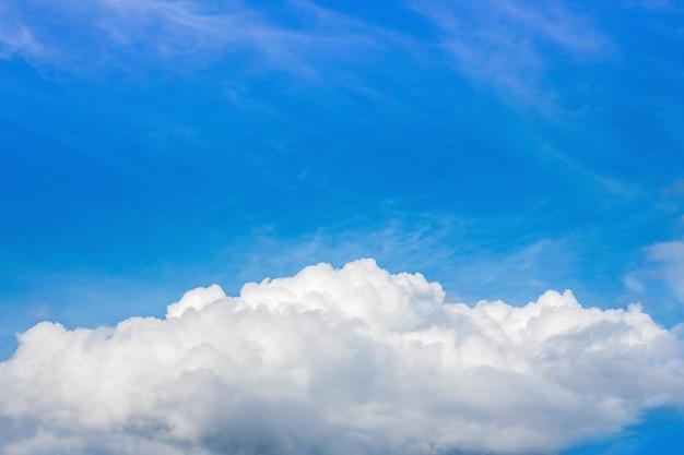 青い空に白い巻き毛の雲