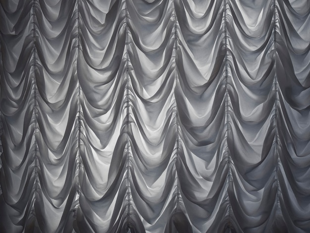 White curtains draped theater on the night. curtains.