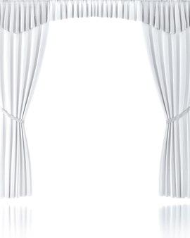 흰색 배경 위에 흰색 커튼