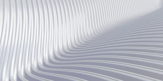 흰색 곡선 왜곡 모양 평행선 흰색 플라스틱 튜브 질감 현대 추상 3d