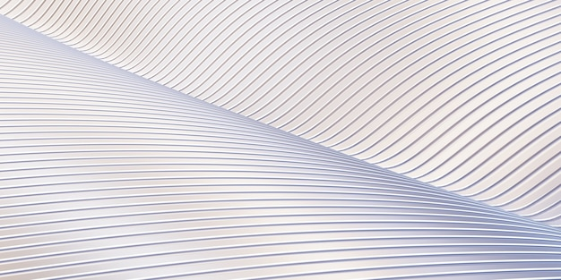 白い曲線の歪んだ形状平行線白いプラスチック管のテクスチャ
