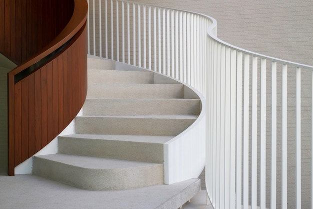 White curve stair office building, stock photo