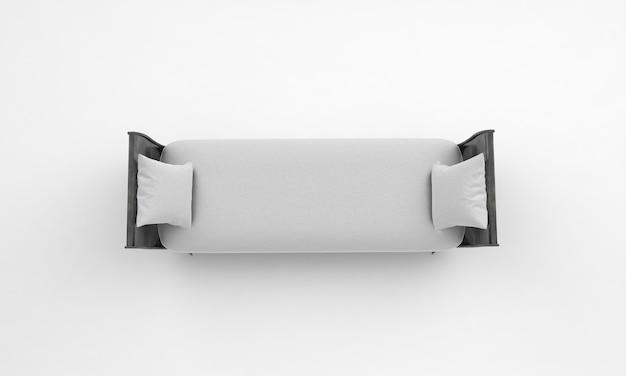 Белый кушетка сверху посмотреть мебель 3d рендеринг