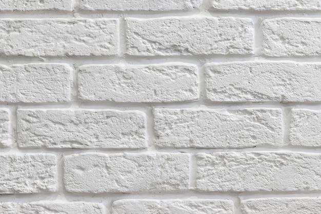 Белая декоративная текстура кирпичной стены
