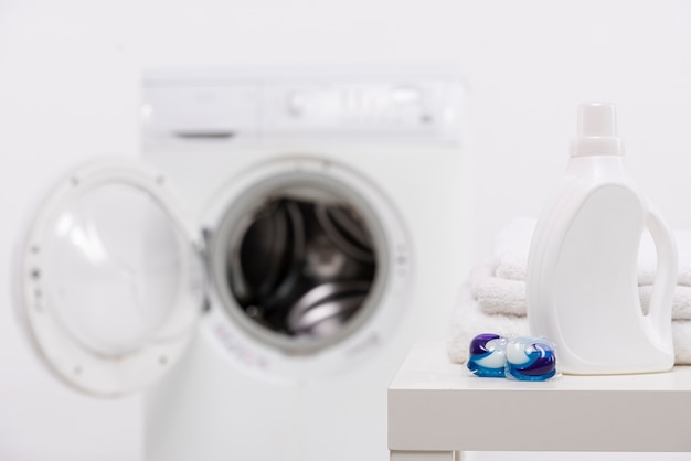 タブレットを洗うと白い洗剤ボトル