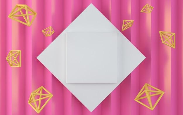흰색 사각형에 흰색 다이아몬드.